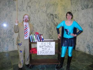 Librarian Avenger and the mobile library